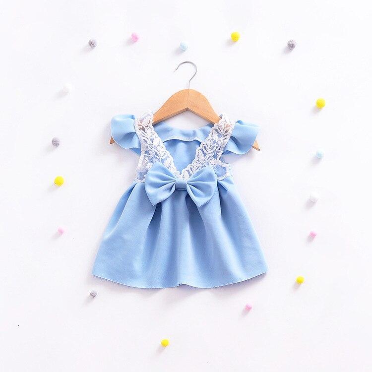 H1b3d87c44ee64e18bd7ab79a0cd6b7adJ Girls Dress 2018 Summer Explosion Solid Color Denim Dress Cartoon Polka Dot Bow Cartoon Bunny Satchel Korean Baby Cute Dress