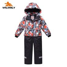 2019 New Children Ski Suit Winter Kids Snowsuit Boys Girls Jumpsuit Hooded Cotton Warm Outwear One-Piece Clothes