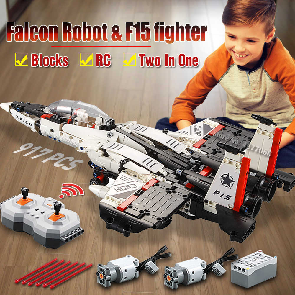 model building blocks legoed rc remote control airplane aircraft helicopter fighter glider model toy planes technic blocks brick