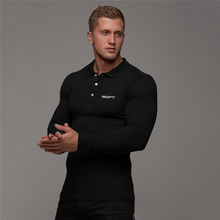 Męskie koszulki do biegania odzież sportowa Fitness trening treningowy koszulki z długim rękawem męskie koszulki do biegania Slim Fit kompresyjne koszulki polo tanie tanio VQ FITNESS CN (pochodzenie) Wiosna AUTUMN COTTON Pasuje prawda na wymiar weź swój normalny rozmiar youth Spring Autumn Winter
