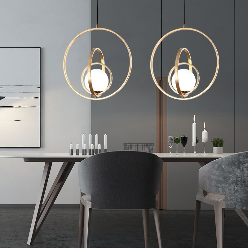 Nordic Pendant Lights Rotating Globe Art Lamps Bedside Light Hang Glass Ball Indoor Living Room Bedroom Restaurant Home Lighting