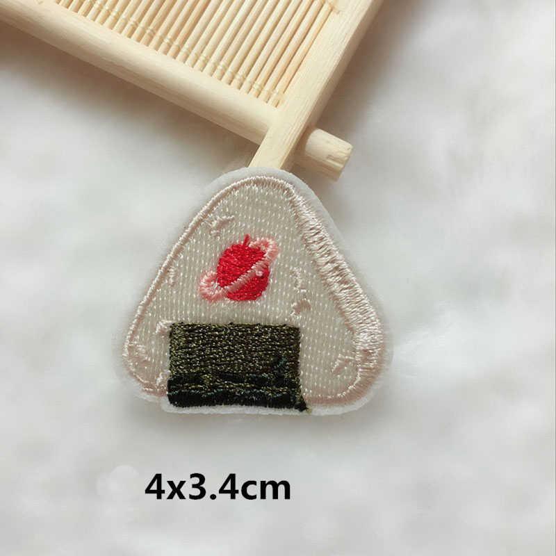 1 Pcs 의류에 대 한 패치 동물 식품 우유 상자 줄무늬에 배지 철 의류 자 켓 배낭 자 수 Applique 액세서리