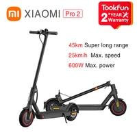 43VERANOALI 290-43€ Xiaomi-patinete eléctrico Mi m365 Pro2 e, inteligente, Mijia, APP de Control E-ABS, freno de seguridad, plegable, 600W, 25km/h, 45KM, 446Wh