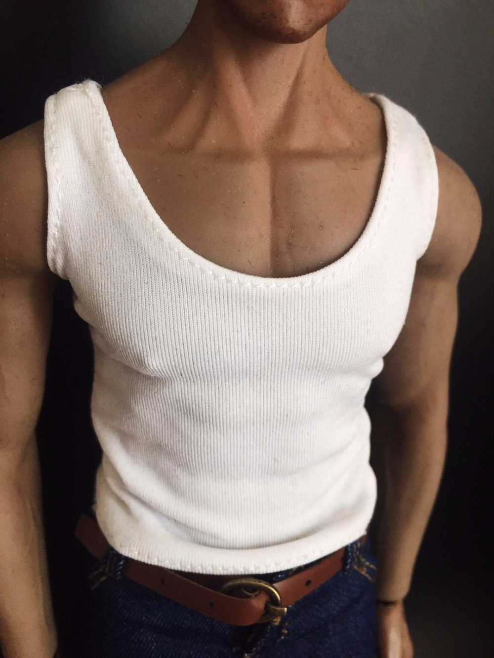 """1//6 Scale Male Vest Model White For 12/"""" Action Figure Body"""