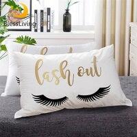 Постельное белье золотой стильный заменитель пуха кровать подушка губы ресницы Черный Белый постельные принадлежности любовь буквы печат...