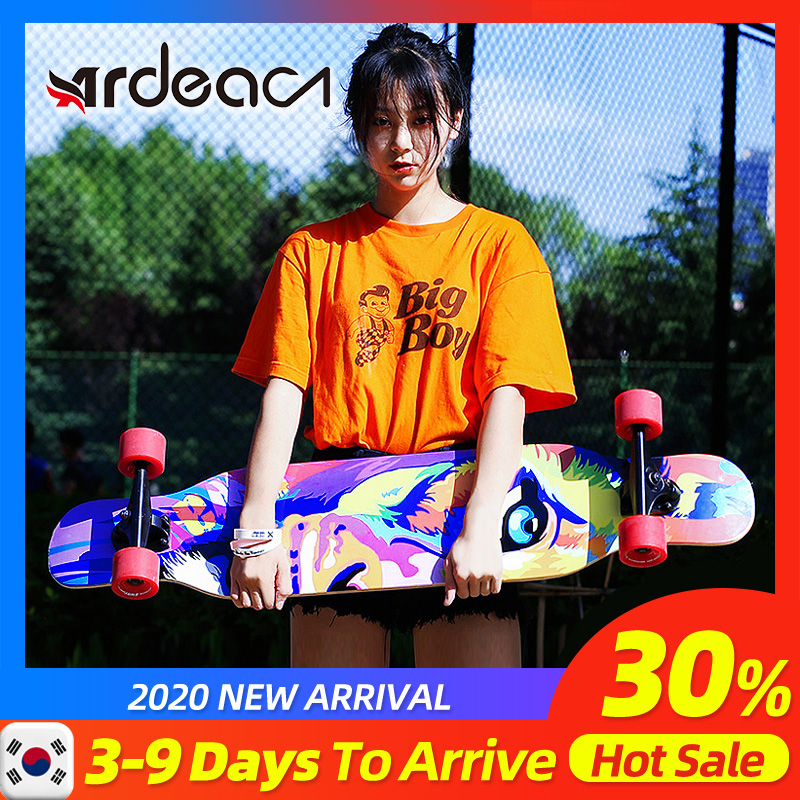 Ardea Skateboard Longboard Adult Teenagers Girl Russia Maple Natural Wood Retro Fashion Flat-Plate Double Rocker Skate Boards