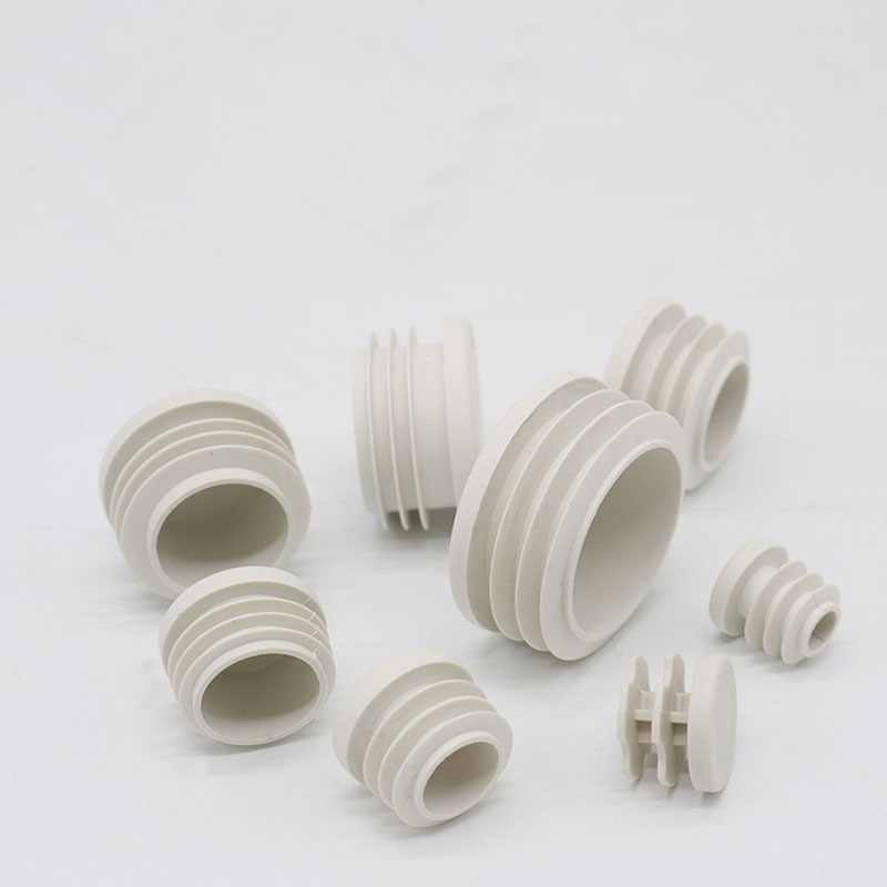 200pcs/lot White Plastic Blanking End Caps Round Pipe Tube Cap Insert Plugs Bung For Furniture Tables Chairs Protector