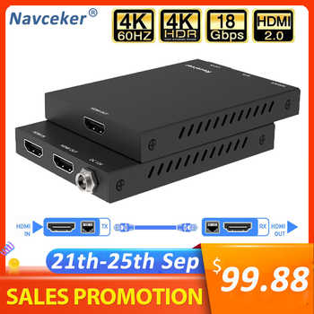 2020 4K 60Hz HDMI 2.0 Extender 50m Support 18Gbps & Loop Out HDMI Extender with IR 4K HDMI to RJ45 Extender Transmitter Receiver - DISCOUNT ITEM  61 OFF Consumer Electronics