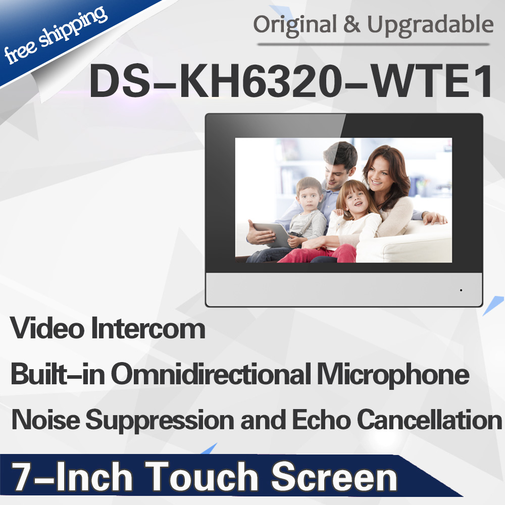 Original International Version DS-KH6320-WTE1 Wifi Indoor Monitor POE, Wireless Video Intercom No Logo