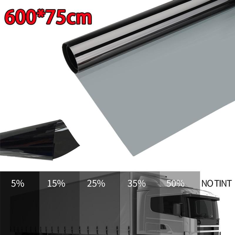 600X75ซม.รถยนต์ฟิล์มม้วนฟิล์มรถHomeกระจกหน้าต่างฤดูร้อนSolar UV Protectorสติกเกอร์ป้องกันการระเบิดฟอยล์