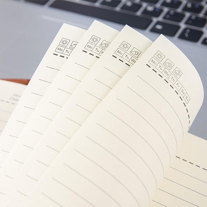 А6 записная книжка и журналы Kawaii блокнот ежедневник повестка дня 2021 Еженедельный планировщик бумага для письма для студентов школы офисные принадлежности 5