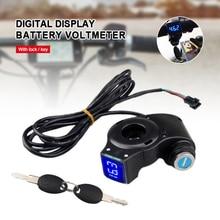 Pojazd elektryczny Panel wyświetlacza LCD kciuk przepustnica napięcie przełącznik kluczykowy blokada z wyłącznik zasilania dla roweru elektrycznego/skutera/Ebike
