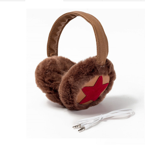 Winter Warm Fur Music Earphones Faux Fur Earmuffs Ear Headset Fashion Faux Fur Head Decor Ear Muffs AA0024