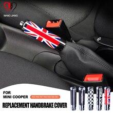 Substituição john works carbbon fibra freio de mão capa parque alavanca do freio caso para mini cooper clubman r55 r56 r57 r58 r59 r60 r61