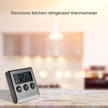 Digital Humidity Meter Thermometer Hygrometer LCD Monitor Digital Temperature Refrigerator Monitoring Display Indoor Kitchen pet thermometer hygrometer round digital lcd display temperature humidity monitor