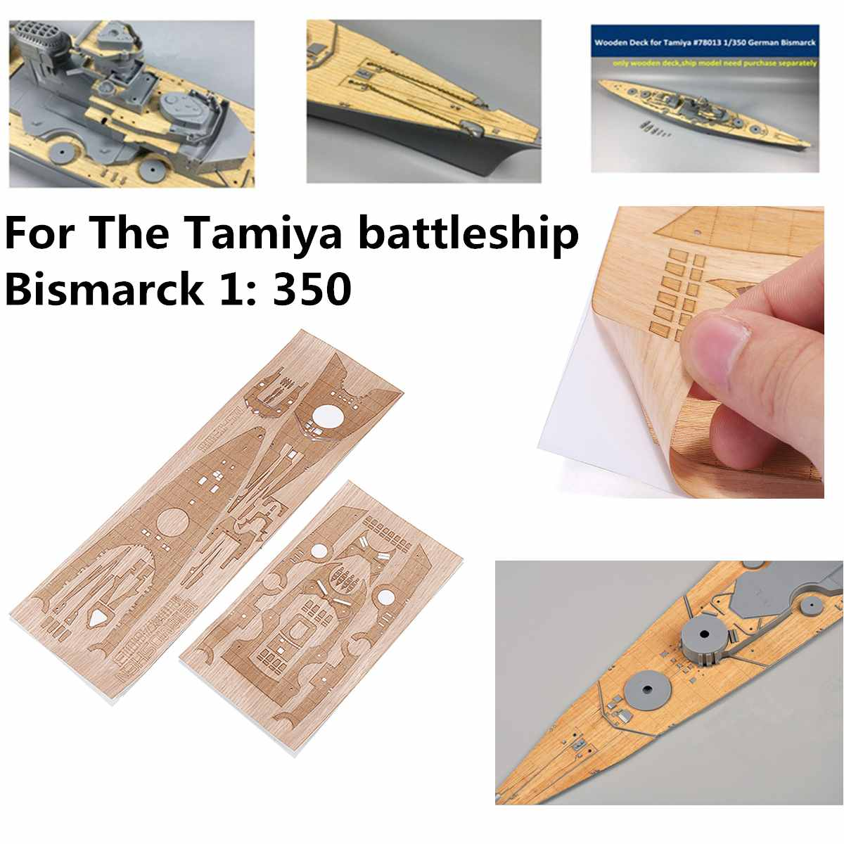 Wooden Deck  Upgrade Set For Tamiya 78013 1/350 German WWII Battleship Bismarck Model Replacement Accessories Assembly Toy