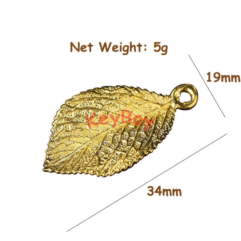 gold leaf charms (4)