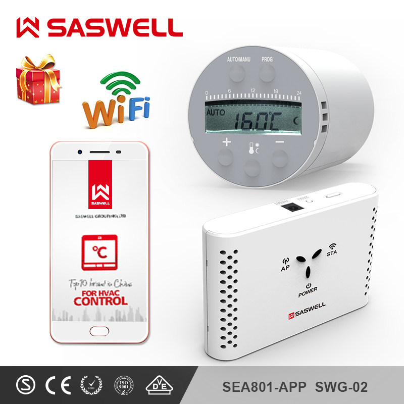 Contrôleur de température intelligent de Thermostat de SASWELL WIFI pour l'eau/chauffage par le sol électrique eau hebdomadaire programmable termostato
