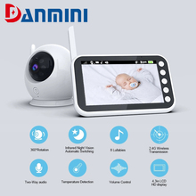 DANMINI Wireless Video Baby Monitor Feeding Remind Electronic Nanny Night Vision Temperature Monitoring With 8 Lullaby ABM100