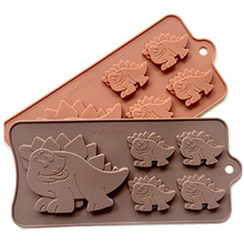цена на ULKNN FDA Silicone Dinosaur Biscuit Chocolate Molds Chocolate Candy Forms Bakeware Tools Kitchen Accessories Chocolate Color