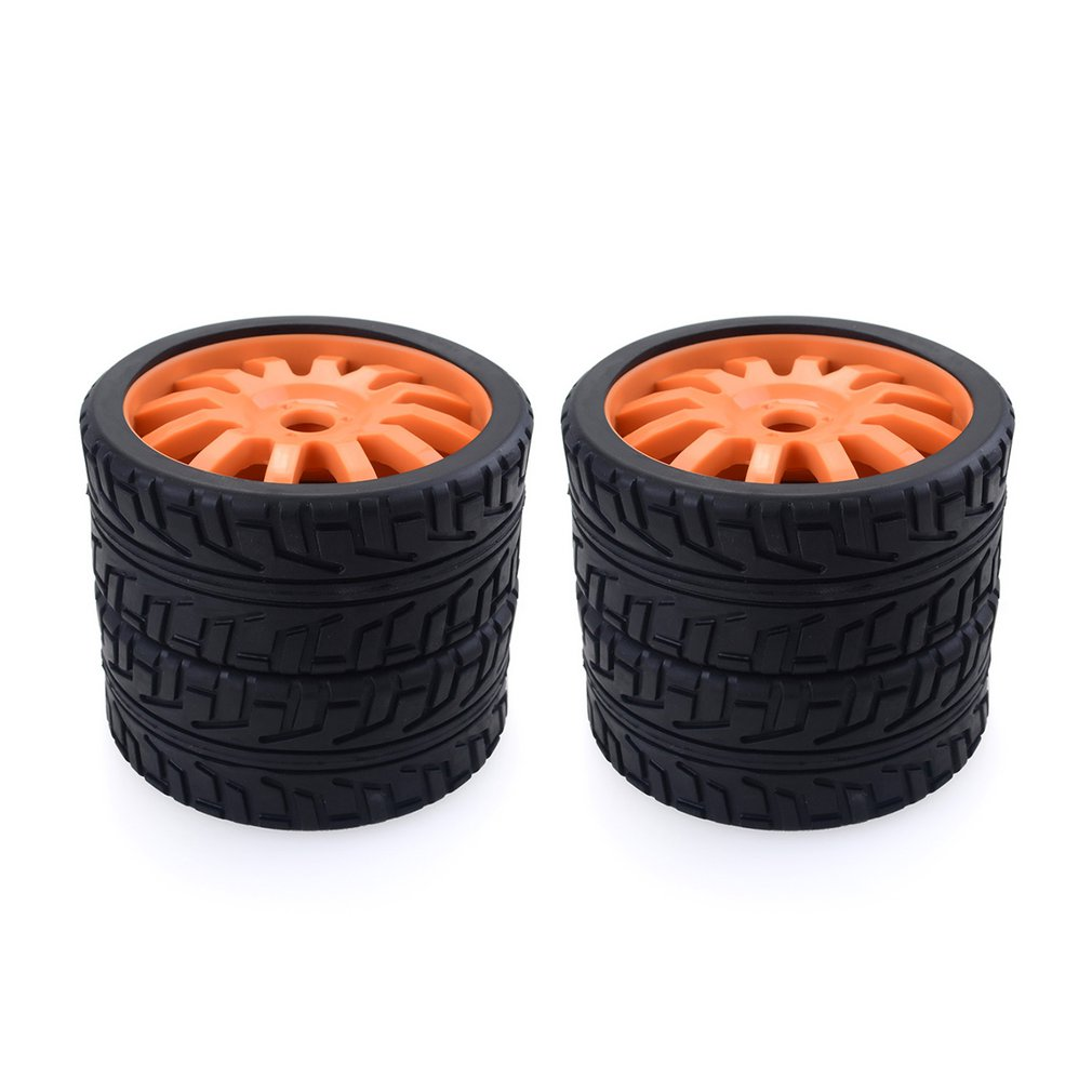 4PCS 1/8 RC Car Rubber Tyres Plastic Wheels for Redcat Team Losi VRX HPI Kyosho HSP Carson Hobao 1/8 Buggy /On-road car(China)