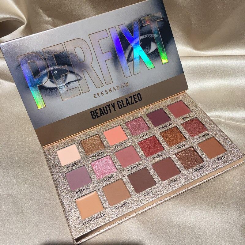 Beleza vitrificada 18 cores glitter sombra palete