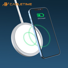 Wireless-Charger Usb-C-Adapter CABLETIME Qi iPhone 15W for 12-Pro/max C383 Magnetic