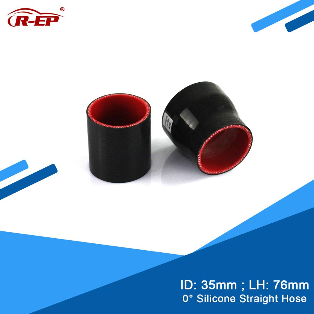 R-EP 0 degree Straight Silicone Hose/Tube 35MM Cold air intake Pipe Supercharger Piping Rubber Joiner Intercooler New Silicone image