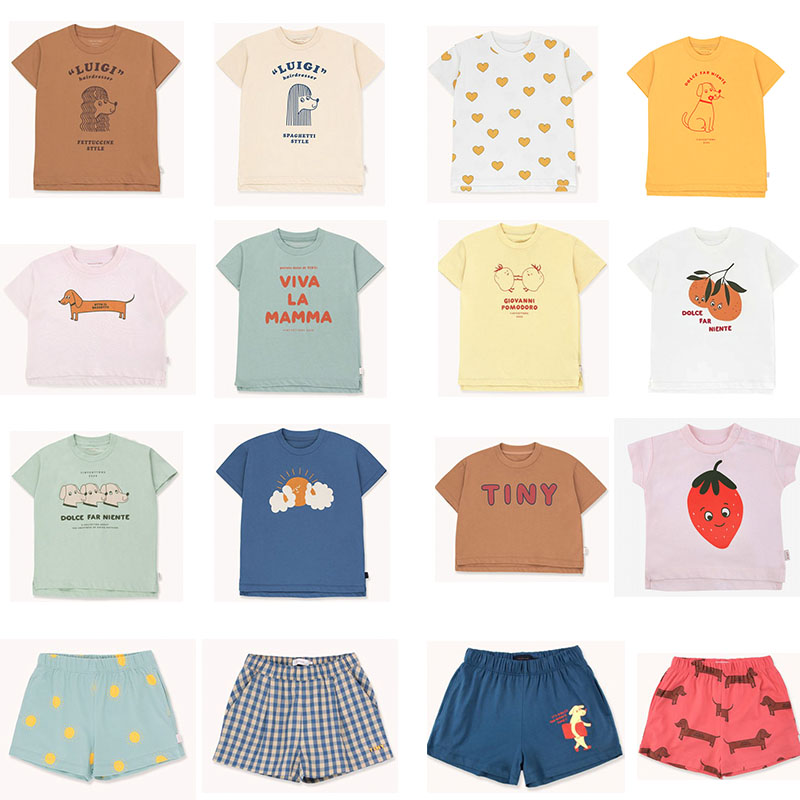 EnkeliBB 2020 New Toddler Boy Girl Fashion Brand T Shirts Baby Cotton O Neck Tops For Summer Strawberry Orange Print Child Tees