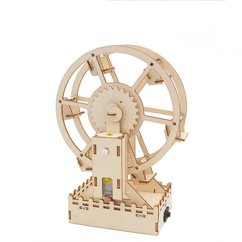 1 Set New 3D DIY Electric Craft Ferris Wheel Puzzle Game Wooden Model Building Kits Science Educational Toys for Children Gift