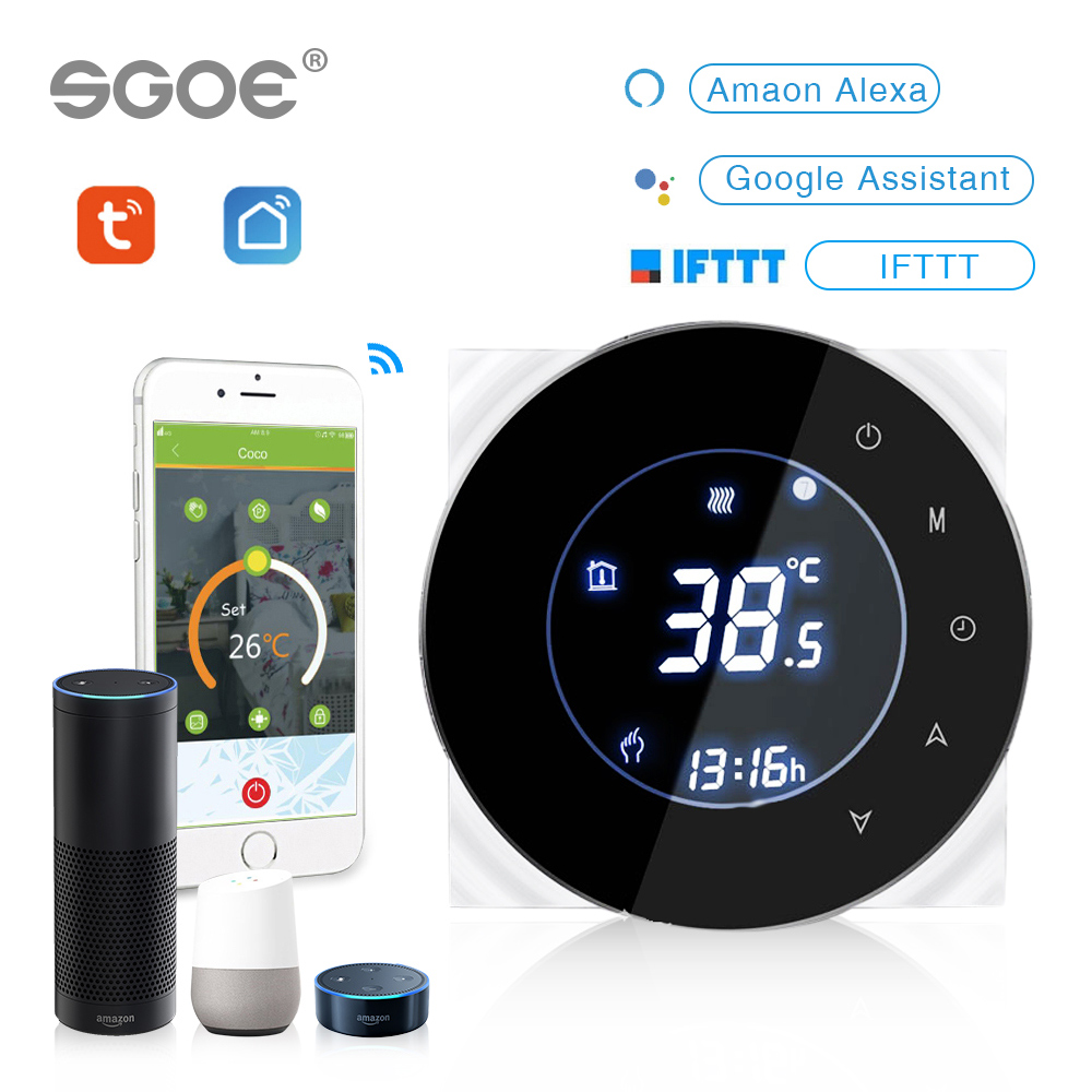 Tuya WiFi Smart Thermostat Temperature Controller For Water Electric Floor Heating Water Gas Boiler Works With Alexa Google Home