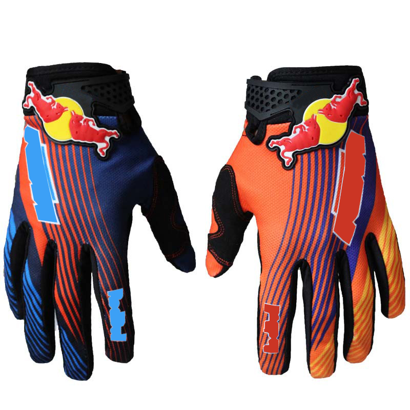 New Motorcycle Long Finger Cycling Glove for Men Women Outdoor Sport Motocross Mountain Bike Bicycle Glove Off Road MTB Gloves
