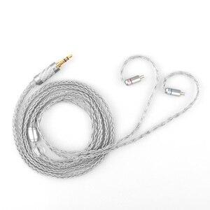Image 2 - TRN 16 cable de Cable plateado 3,5/2,5 macho MMCX/2Pin conector MMCX 0,75 en 0,78 en la oreja auricular TRN VX V90 V80 M10 BA8 BA5