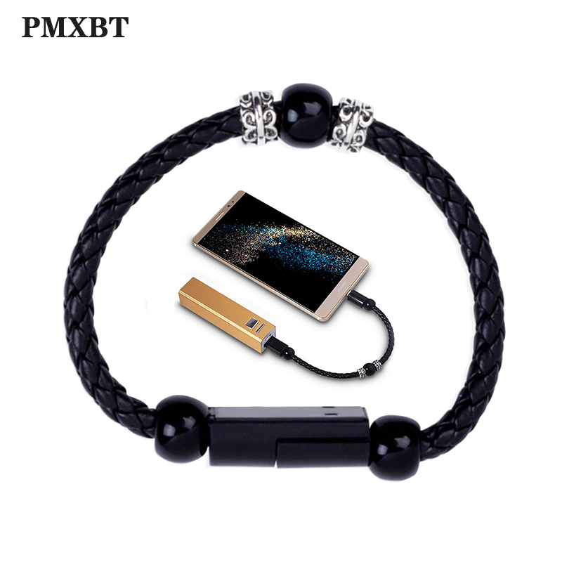 Armband Perlen Wearable Tragbare <font><b>USB</b></font> Ladekabel Schnelle Lade Für iPhone 7 Samsung Typ C Micro <font><b>USB</b></font> Android Telefon Ladegerät schnur image