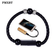Bracelet Beads Wearable Portable USB Charge Cable Fast Charging For iPhone 7 Samsung Type C Micro Android Phone Charger Cord