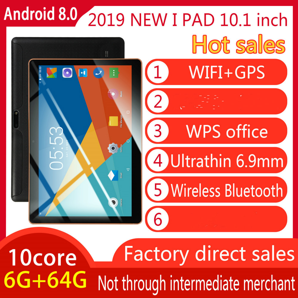 2020 Hot New 10 Inch Android 8.0 Tablet Double Card Dual Standby  6G+128GB Large Memory Smart Tablet  4G Call Phone Tablet PC