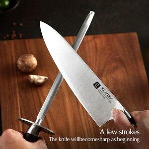 Image 2 - XINZUO Pro Knife Sharpener Rod  Stainless Steel Kitchen Accessories High Carbon Sharpener Stick Home Use Knife Grinder