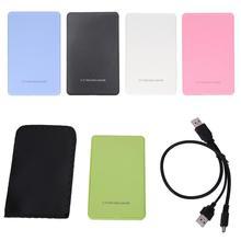 HOT 5 Colors HDD Case USB 3.0 2.0 For SSD External Hard Disk Drive HDD Box/Enclosure Pocket 2.5 HD SATA To USB