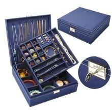 2019 Casket For Decoration Velvet Wooden Jewellery Box Display Storage Organizer
