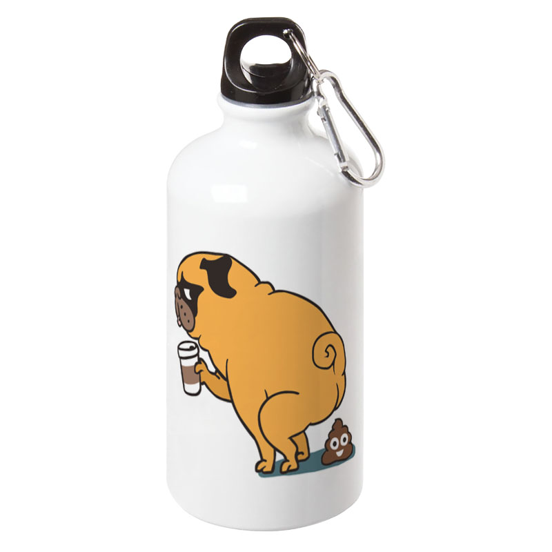 Coffee Makes Me Poop Sport Water Bottle With Carabiner For Outdoor Camping Cycling Walking 17oz