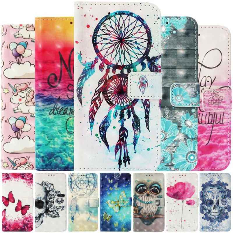 Cute Flip Case For Sony Xperia 10 XA3 XZ3 XZ2 Compact XZ1 XZ Premium XA2 Plus Ultra XA1 L2 Z3 PU Leather Wallet Cover New DP03E