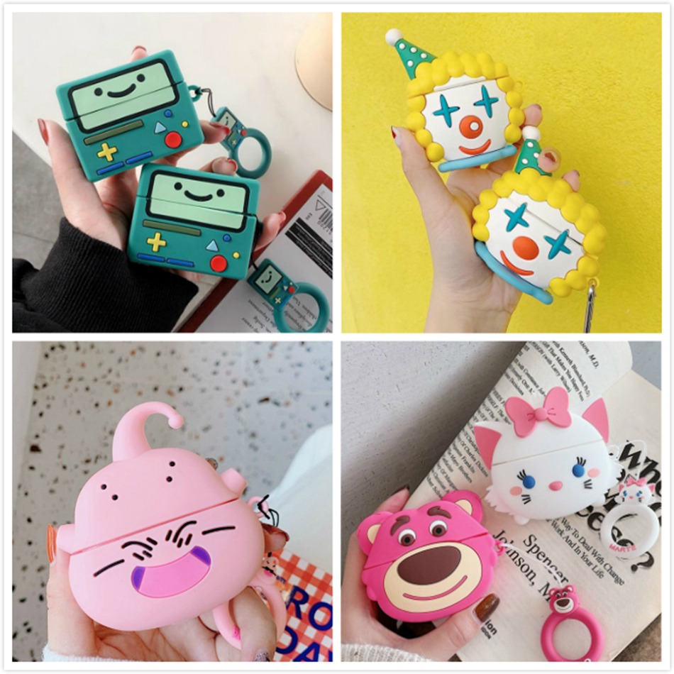 3D Earphone Case For Airpods Pro Case Silicone Pig Dog Cartoon Headphone/Earpods Cover For Apple Air Pods Pro 3 Case Keychain