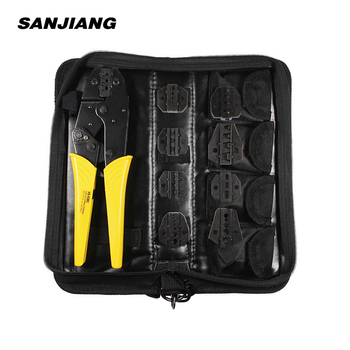 Crimping tools kit HS-03BC 8 jaw for plug tube/insulation /no insulation/Cap/coaxial Cable terminals kit 9in crimping pliers crimping pliers wire stripper multifunction tools hs 02h1 02h2 kit 10 jaw for insulation non insulation tube pulg pliers tools