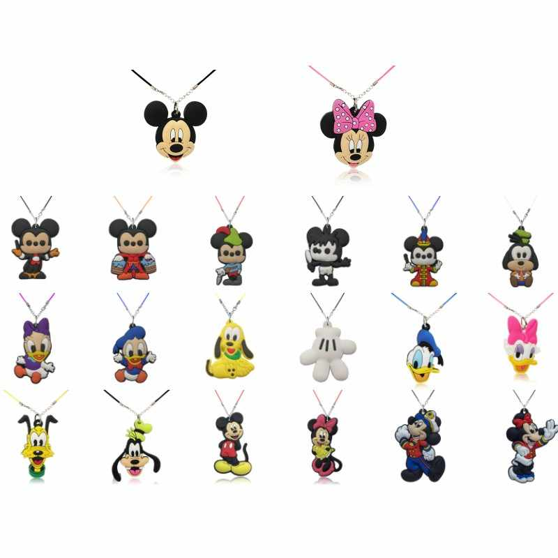 1 chiếc Hoạt Hình Mickey Cổ Minnie PVC Mặt Dây Chuyền Choker Kawaii Charm Chuỗi Dây Phụ Kiện Thời Trang Trẻ Em Quà Tặng Sinh Nhật