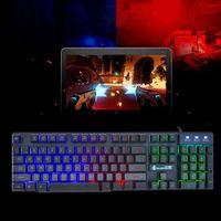 עם התאורה האחורית LED Wired זוהר עם התאורה האחורית Gaming Keyboard מחשב שולחני לוח המקשים המכאניים D08B (4)