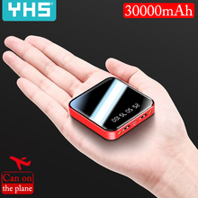 Mi ni 30000mAh power Bank для iPhone 8 Xiaomi mi power bank Pover Bank зарядное устройство с двумя портами Usb внешний аккумулятор Poverbank портативный