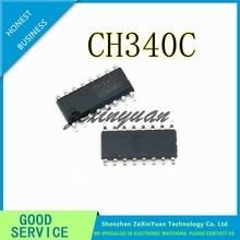 50pcs CH340C SOP 16 CH340 SOP 새로운 원본 USB 직렬 포트 칩
