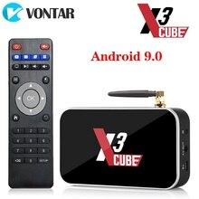 الروبوت 9.0 مربع التلفزيون الذكية X3 مكعب S905X3 2GB 16GB DDR4 Amlogic X3 برو 4GB RAM 32GB مشغل الوسائط X3 زائد 4G 64GDual WiFi PK X2 برو