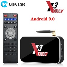 Android 9.0 Smart TV Box X3 cube S905X3 2GB 16GB, DDR4 procesor Amlogic X3 Pro 4GB pamięci RAM 32GB odtwarzacz multimedialny X3 Plus 4G 64GDual WiFi PK X2 Pro