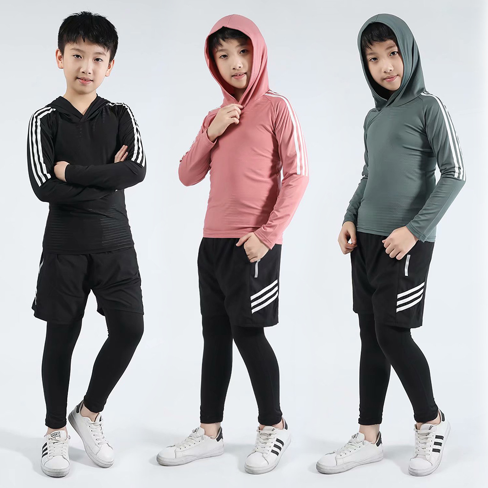Boys Ski In Winter Thermal Underwear Sets Kids Functional Shirts And Pants Girls Sports Set
